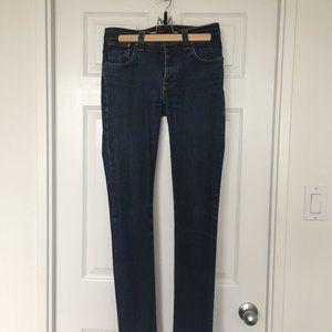 "Nudie Grim Tim Organic Dry Navy Jeans (W31""/L34"")"